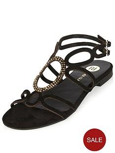 river-island-circle-detail-embellished-flat-sandal