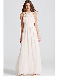 little-mistress-corsage-gathered-waist-maxi-dress