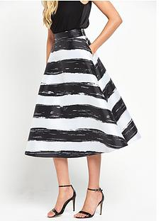coast-full-stripe-skirt-mono