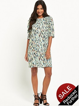 warehouse-zig-zag-print-ruffle-dress