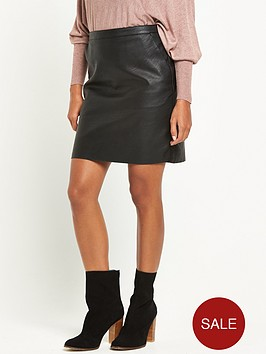 warehouse-faux-leather-clean-skirt