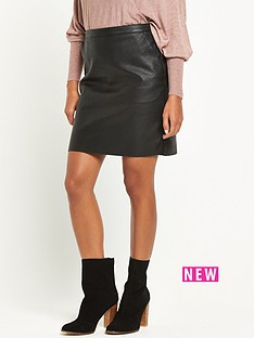 warehouse-warehouse-faux-leather-clean-skirt
