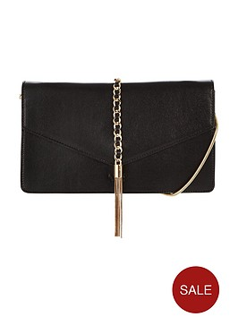 lydc-chain-detail-clutch-bag-black
