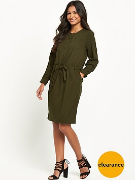 warehouse-soft-pleat-belted-dress