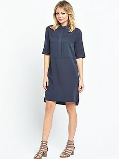 warehouse-casual-shirt-dress-navy