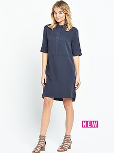warehouse-casual-shirt-dress-navy