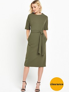 warehouse-drop-sleeve-pocket-dress