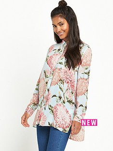 warehouse-pom-pom-print-blouse