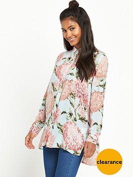 warehouse-pom-pom-print-blouse