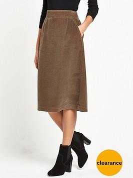 warehouse-cord-midi-skirt