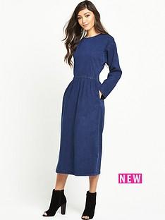 warehouse-warehouse-zip-front-denim-dress