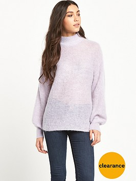 warehouse-bell-sleeve-mohair-jumper