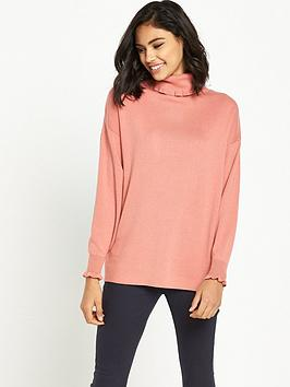 warehouse-frill-neck-boxy-jumper