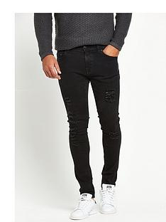 only-sons-warp-rip-skinny-jeans
