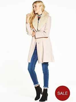 wallis-stone-faux-fur-collar-fit-and-flare