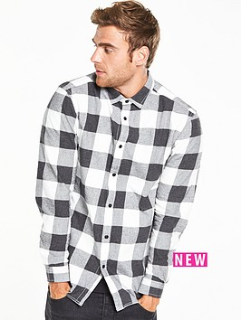 v-by-very-long-sleeve-large-scale-check-shirt