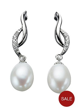 elements-sterling-silver-cubic-zirconianbspand-pearl-twist-earrings