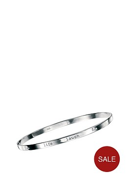 elements-sterling-silver-love-life-laugh-bangle
