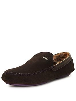 ted-baker-maddoxx-suede-slipper-brown