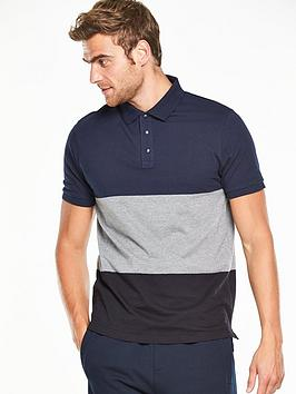 v-by-very-short-sleeve-colour-block-polo