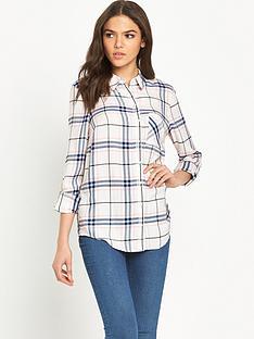 miss-selfridge-check-shirt