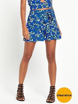miss-selfridge-blue-floral-swing-short