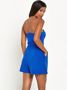miss-selfridge-tailored-bandeau-playsuit