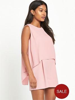miss-selfridge-double-layernbspplaysuit-pink