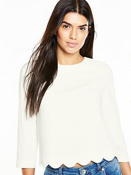 oasis-scallop-34-sleeve-top