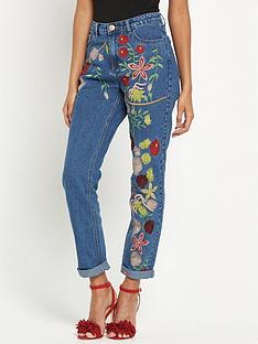 glamorous-embroidered-floral-jeans