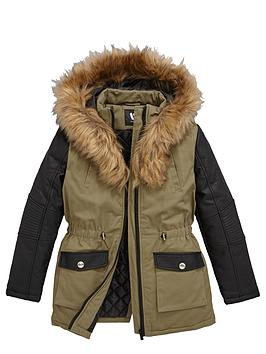 v-by-very-girls-parka-with-pu-sleeve-and-faux-fur-collar