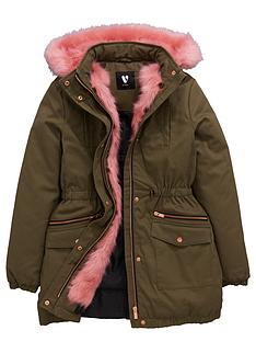 v-by-very-girls-contrast-faux-fur-trim-parka