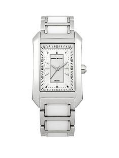 karen-millen-silver-platednbspcrystal-set-square-ladies-watch