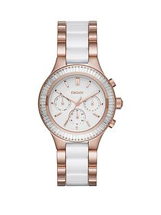 dkny-chambers-white-chronograph-dial-rose-gold-tone-ceramicnbspbracelet-ladies-watch