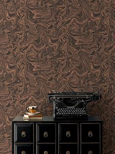 graham-brown-marbled-wallpaper-charcoalrose-gold
