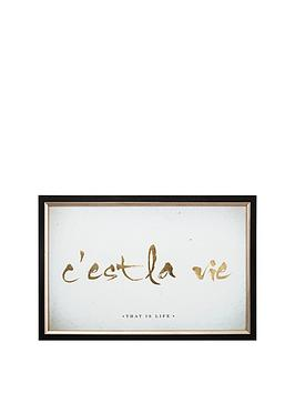 graham-brown-crsquoest-la-vie-metallic-framed-print-ndash-60-x-40-cm
