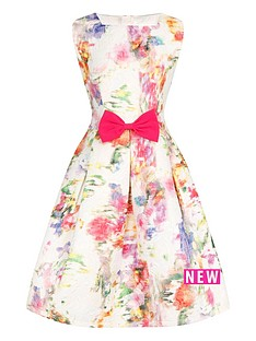 little-misdress-girls-floral-bow-waist-dress