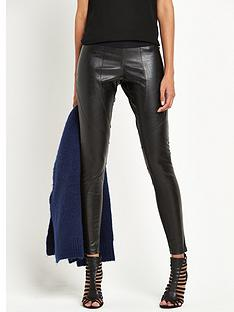 replay-leather-look-skinny-trousers