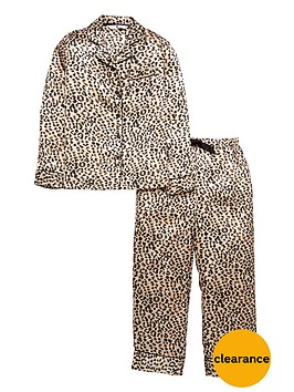 v-by-very-girls-satin-leopard-pyjamas