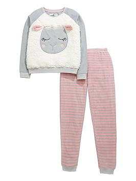 v-by-very-girls-sheep-fleece-twosienbsppyjamas