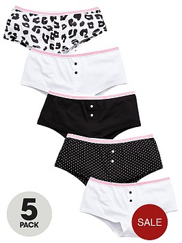 v-by-very-girls-monochrome-hipster-briefs-5-pack