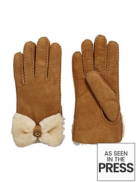 ugg-shearling-bow-glove