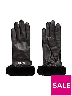 ugg-leather-belted-smart-glove