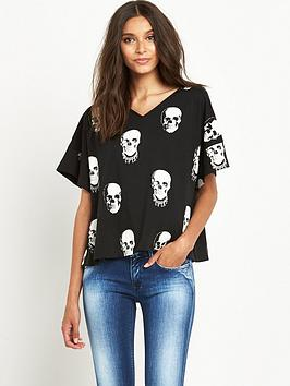 replay-skull-print-t-shirtnbsp