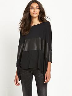 replay-slouchy-leather-insert-top