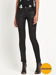 replay-replay-joi-waxed-coated-high-waisted-skinny-jean-black