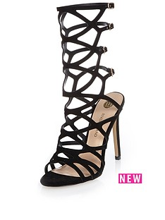river-island-caged-mid-calf-heeled-sandal