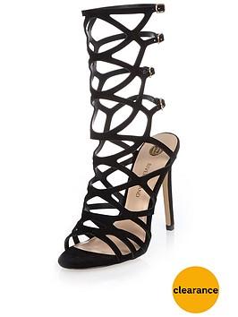 river-island-caged-mid-calf-heeled-sandal