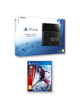 playstation-4-1tb-console-with-mirrors-edge-catalyst-and-optional-extra-controller-365-days-psn-subscription