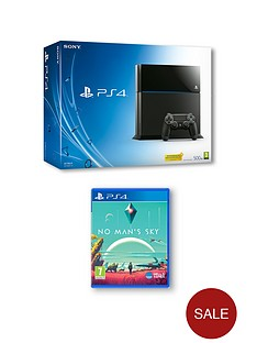 playstation-4-500gb-console-with-no-mans-sky-and-optional-extra-controller-andor-12-months-psn-subscription